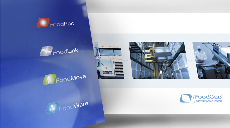 FoodCap International brand and marketing collateral designed by Mark Adams Brand Stories.