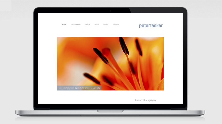 Peter Tasker brand and website designed by Mark Adams Brand Stories.